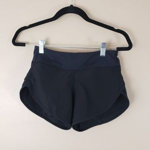 Lululemon Black Speed Run Shorts Size 6